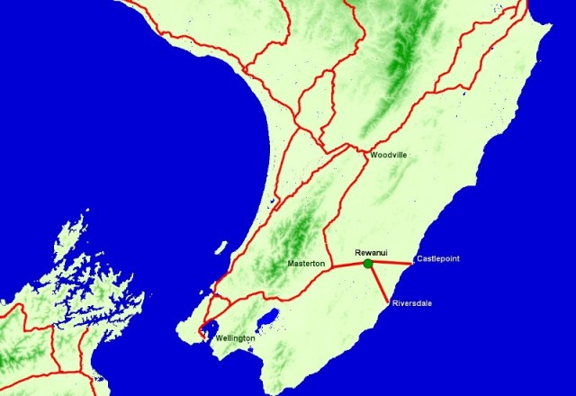 Location of Rewanui Forest