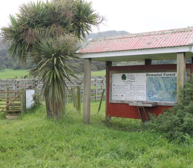 Information board at Rewanui